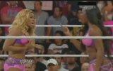Paige & AJ Lee vs The Funkadactyls (Cameron heel turn) Raw 07/08/14