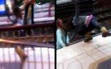 Metroda Kavga Eden Kızlar Raylara Düştü