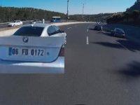 Motorcuyu Öldürmeye Teşebbüs Eden BMW Sürücüsü